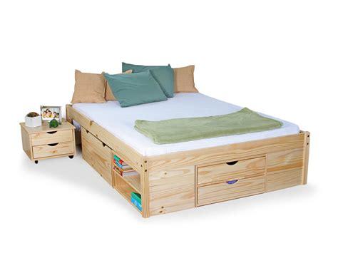 jugendbett mit gästebett und schubladen claas funktionsbett jugendbett 140x200 cm kiefer natur