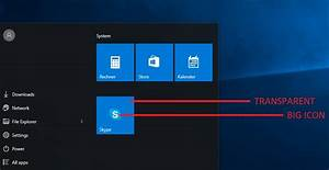 Customize Tiles in Windows 10?(Size, Color, Icon ...