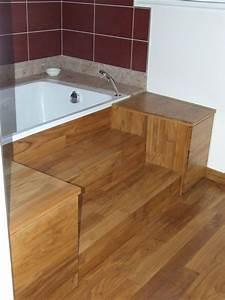 Pont De Baignoire Bois : habillage baignoire en bois ~ Premium-room.com Idées de Décoration
