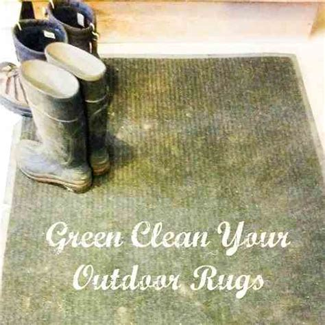 how to clean outdoor rugs the naturally effective way