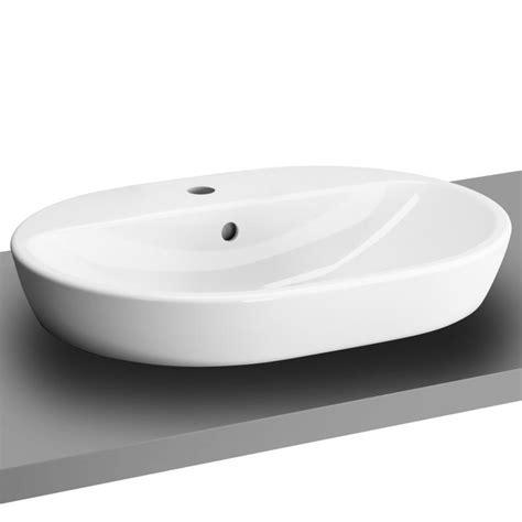 aufsatzwaschbecken oval mit hahnloch vitra metropole aufsatzwaschtisch oval wei 223 mit 220 berlauf 5943b003 0001 reuter