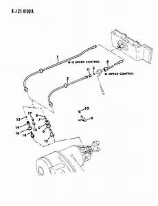 1988 Jeep Cable  Speedometer And Pinion Manual