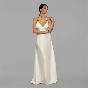 off white long silk dress beach wedding dress With white silk wedding dress