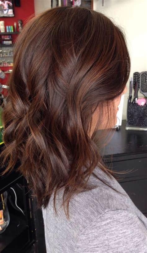 medium length hair highlights  caramel color