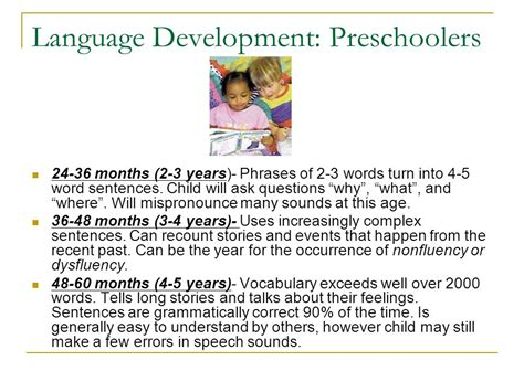 turning five procedures focus on child development ppt 656 | Language Development%3A Preschoolers