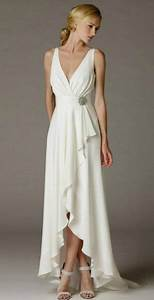 simple elegant high low wedding dress for older brides With simple wedding dresses for older brides