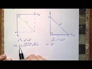 Geometrie Berechnen : mathe raumdiagonale im w rfel geometrie aufgaben rechnen youtube ~ Themetempest.com Abrechnung