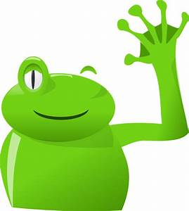 Frog Wave Left Clip Art at Clker.com - vector clip art ...