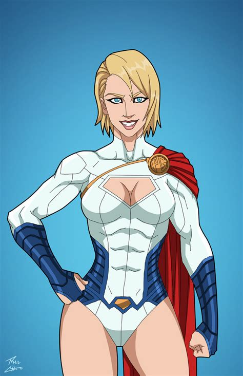 power girl earth  commission  phil cho  deviantart