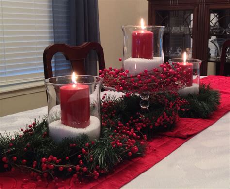 christmas centerpiece  epsom salts inexpensive glass