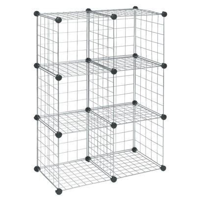closetmaid wire  cube organizer silver office cube storage  cube organizer garage shelving