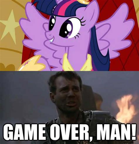 Game Over Meme - game over man my little pony friendship is magic know your meme