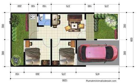 denah rumah minimalis sederhana type   lantai gambar