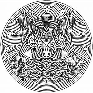 An Owl Abstract Coloring Pages | Coloring Sky