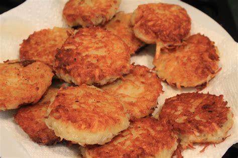 Menorah Lighting by Potato Latkes For The Hanukkah Celebration From The
