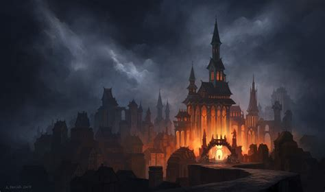 fantasy castle hd wallpaper background image