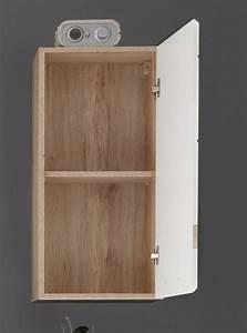 meuble haut de salle de bain contemporain 1 porte chene With meuble à suspendre salle de bain