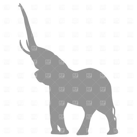 elephant stencil trunk up elephant silhouette clip clipart panda free