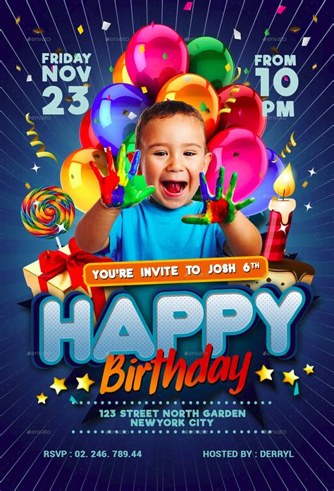 17+ Childrens Birthday Invitation Designs and Examples