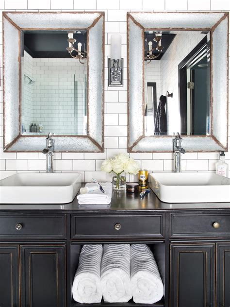 white bathroom vanities hgtv