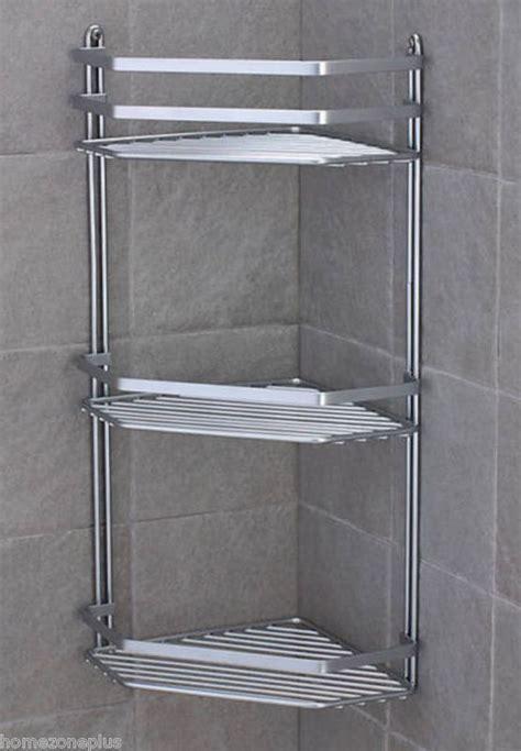 shower corner shelf satina chrome corner shower caddy shelf basket ebay