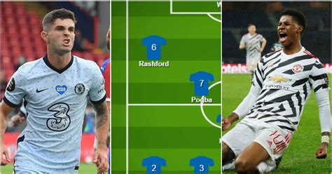 Man Utd vs Chelsea: Combined starting XI features Rashford ...
