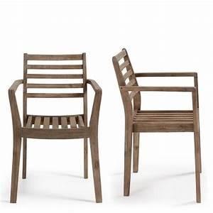 Chaise En Bois Massif : chaise de jardin en bois massif style contemporain rekely ~ Teatrodelosmanantiales.com Idées de Décoration