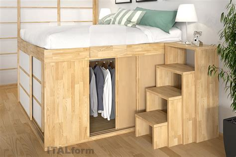 wood loft space saving beds designed to increase your storage space