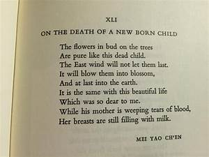 A sad but beautiful Chinese poem translated by Kenneth ...