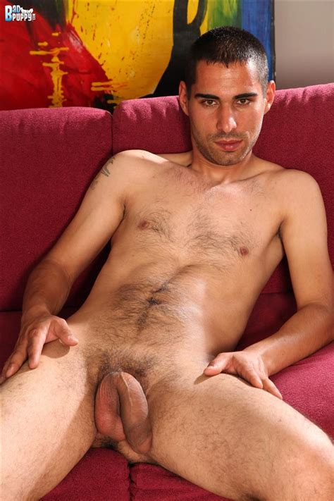 Hairy 25 Year Old Turkish Guy Strokes His Thick Cock