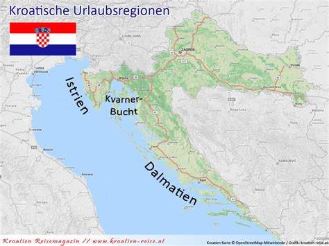 urlaubsregionen  kroatien istrien kvarner bucht