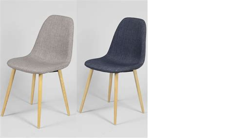 chaise grise tissu chaise scandinave bleu ou gris en tissu et en bois ildra