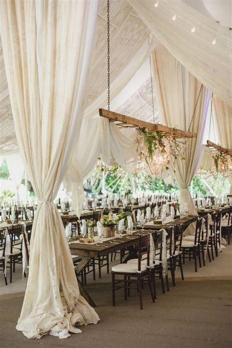 chic  elegant wedding tent draping inspiration