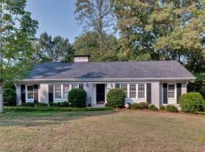 Painted Brick Ranch Style Homes