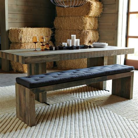 Kitchen Table Upholstered Bench by Dining Room Tables With Benches Homesfeed
