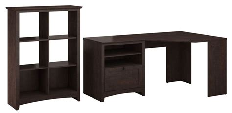 desk with storage cubes buena vista cherry corner desk with 6 cube storage