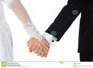 Bride And Groom Holding Hands Royalty Free Stock ...
