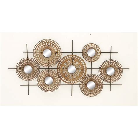 saapni 48667 gorgeous metal mirror wall decor 48667