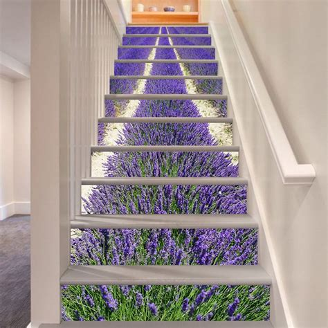 Home Design 3d Stairs by 3d Lavender 377 Stair Risers Decoration Photo Mural Vinyl