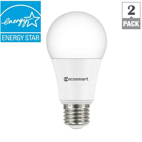 ecosmart 75w equivalent daylight a19 dimmable led light