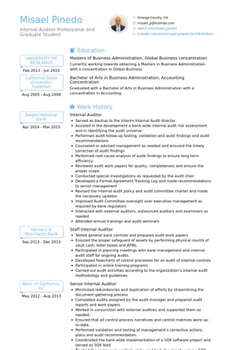 Auditing Experience Resume by Auditor Resume Sles Visualcv Resume Sles