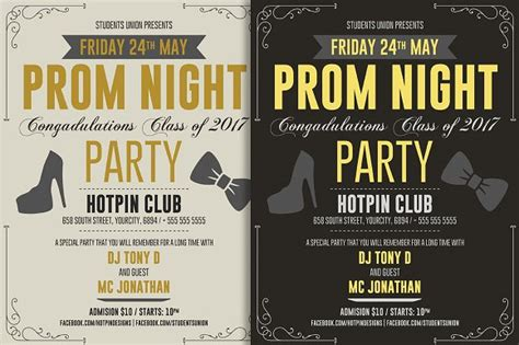 prom party flyer template flyer templates creative market