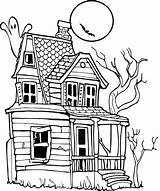Haunted Coloring Cartoon Houses Drawing Clipart Pages Clip Halloween Draw Easy Mansion Outline Drawings Getdrawings Scary Ghost Colouring Simple Transparent sketch template