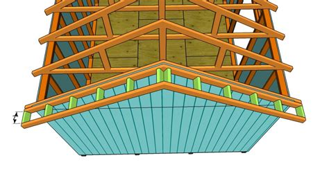 how to build a gable roof how to build a roof for a 12x16 shed howtospecialist how to build step by step diy plans