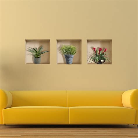 vase plant  riding lattice wall decals pag removable