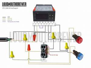 Diy Stc-1000 2-stage Temperature Controller Wiring Diagram With Indicator Lights