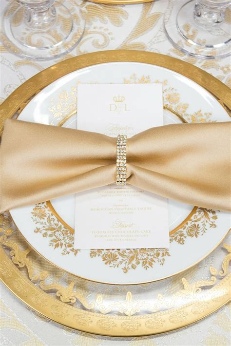 rhinestone stretch loop napkin ring rose gold wedding