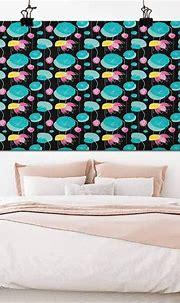 Amazon.com: Lotus DIY Wall Art Colorful Sketch Style Lotus ...