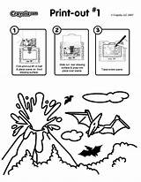 Explosion Volcanic Coloring Crayola sketch template