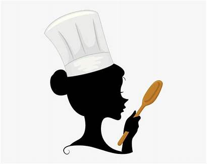 Chef Cooking Woman Clipart Spoon Cartoon Female
